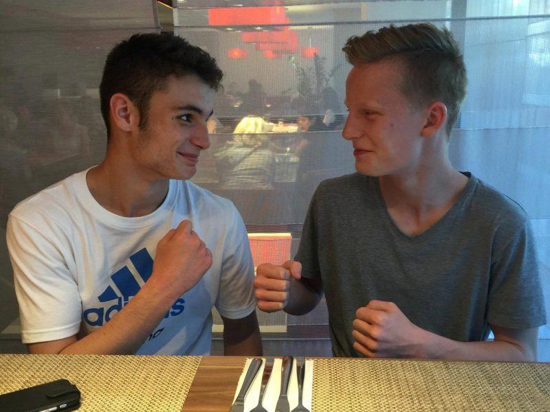Don og Martin klare for mat etter innveiingen